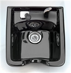 Square Porcelain Shampoo Bowl - Black