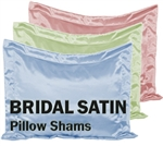 Bridal Satin Pillow Shams