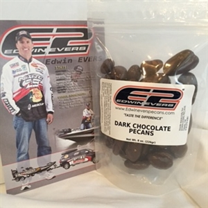 Edwin Evers Oklahoma Grown Dark Chocolate Covered Pecans 8 oz.