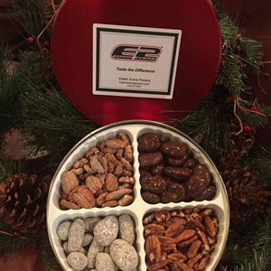 Edwin Evers Oklahoma Grown Gift Tins W/4 Flavors of Pecans 2 lb.
