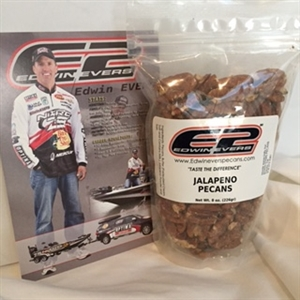 Edwin Evers Oklahoma Grown Jalapeno Roasted Pecans 8 oz.