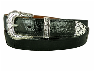 "Alligator Belt 1 3/16"" with Taos Buckle Set"