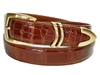 "Alligator Belt 1 3/16"" with Scottsdale Gold-Plated Buckle Set"