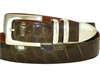 "Alligator Belt with 1 3/16"" Sterling Silver Manhattan Buckle Set"