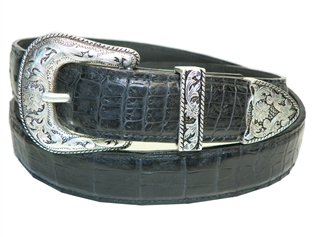 "Crocodile Belt 1 3/16"" with Taos Buckle Set"