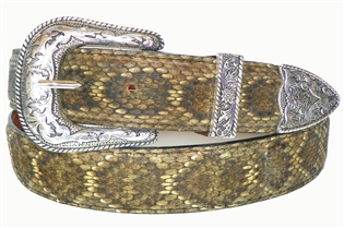 "Rattlesnake Belt 1 3/16"" with Taos Buckle Set"