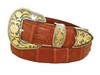 "Crocodile Belt 1 1/2"" Santa Barbara Buckle Set"