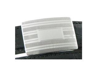 Sterling Silver Slide Buckle - Etched