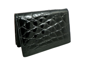 Alligator ID Card Case Gusset Wallet