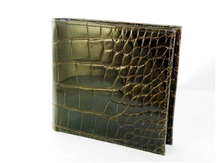 Alligator Hipster Wallet with Alligator Interior