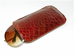 Alligator Sunglass /  Eyeglass Case