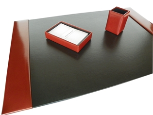 Italian Kid Leather 3-Piece Desk Set