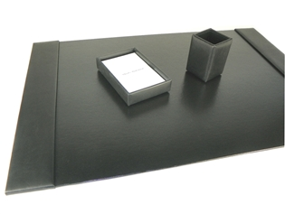British Lamb Leather 3-Piece Desk Set