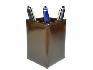 Italian Kid Leather Pencil Cup