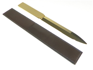 Italian Kid Leather Letter Opener in Sheath