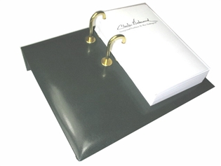British Lamb Leather Desk Calendar