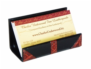Alligator Accents Business Card Stand