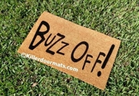 Buzz Off Custom Doormat by Killer Doormats