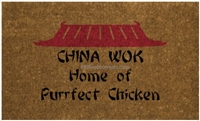 China Wok Custom Doormat by Killer Doormats