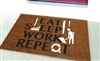 Eat Sleep Work Repeat Custom Doormat by Killer Doormats