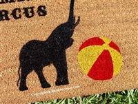 Surname Family Circus Personalized Custom Doormat by Killer Doormats