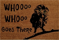 Whooo Goes There Fluffy Owl Custom Doormat by Killer Doormats