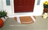 Football Half Moon Custom Handpainted Sports Welcome Doormat by Killer Doormats