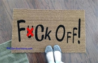 Fuck Off Custom Doormat by Killer Doormats