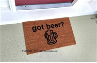 Got Beer? Custom Doormat by Killer Doormats