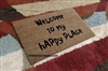 Welcome To My Happy Place Custom Doormat by Killer Doormats