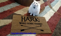 Hark! Who Goes There? Custom Doormat by Killer Doormats