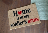 Home Is In My Soldier's Arms Custom Doormat by Killer Doormats