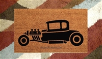 Hot Rod Car Custom Handpainted Doormat by Killer Doormats
