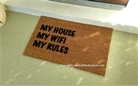 My House My WiFi My Rules Doormat by Killer Doormats