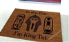 In This Hut I'm King Tut Custom Doormat by Killer Doormat