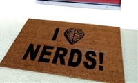 I Love Nerds Custom Doormat by Killer Doormats