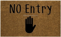 No Entry Custom Doormat by Killer Doormats