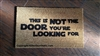 This Is Not The Door You're Looking For Custom Handpainted Fandom Doormat by Killer Doormats, Version 3