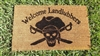 Welcome Landlubbers Custom Doormat by Killer Doormats, English or Pirate