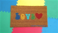 Colorful Retro Love Custom Doormat by Killer Doormats