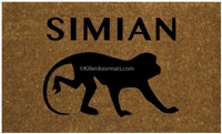 Simian Custom Doormat by Killer Doormats