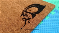 Simple Butterfly Custom Doormat by Killer Doormats