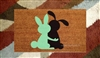 Somebunny Loves You Custom Hand Painted Cute Animal Welcome Door Mat by Killer Doormats
