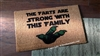 The Farts Are Strong With This Family Custom Handpainted Funny Fandom Welcome Doormat by Killer Doormats
