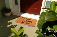 Te Amo Te Quiero Te Quila Custom Doormat by Killer Doormats