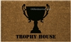 Trophy House Custom Handpainted Welcome Doormat by Killer Doormats