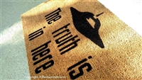 The Truth Is In Here UFO Custom Handpainted Fandom Doormat by Killer Doormats