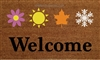 Welcome Four Seasons Custom Handpainted Doormat by Killer Doormats