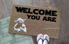 Welcome You Are Custom Fandom Doormat by Killer Doormats