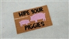 Wipe Your Piggies Custom Cute Pig Handpainted Doormat by Killer Doormats Clearance